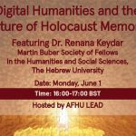 Webinar in English | Digital Humanities and the Future of Holocaust Memory